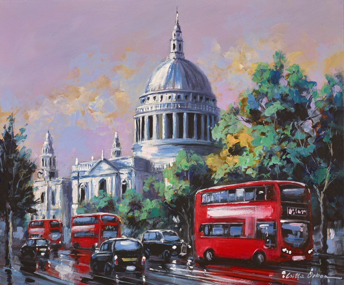 St Paul's Cathedral, London by csilla orban -  sized 24x20 inches. Available from Whitewall Galleries